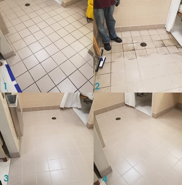 Ceramic Tile  and Grout restore DE