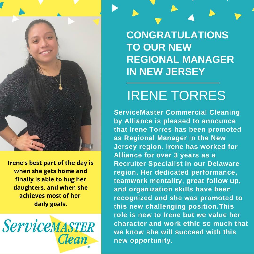 Irene Torres has been promoted