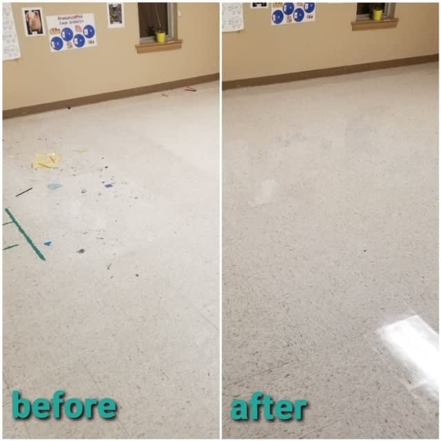 Refresh your VCT flooring with our Proven Solutions! View some of the results from a Camden NJ Learning Center